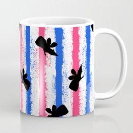 pink no blue bounding fairy stripes Coffee Mug