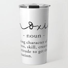 Moxie Definition - Minimalist Black Travel Mug