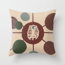 Cage of Hearts Throw Pillow