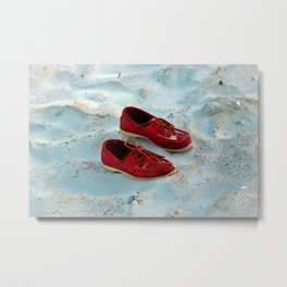 Red Boat Shoes Metal Print
