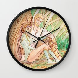 Reading lesson Wall Clock