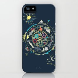 Running Like Clockworld iPhone Case
