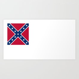 Bloodless Banner Of The Confederacy Art Print