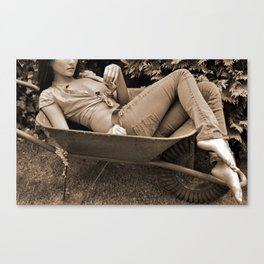 Barefoot Lounging Canvas Print