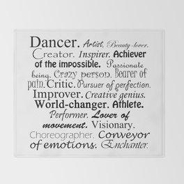 Dancer Description Throw Blanket