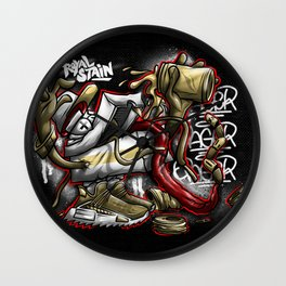 Shoe Poppin Royal Stain Wall Clock