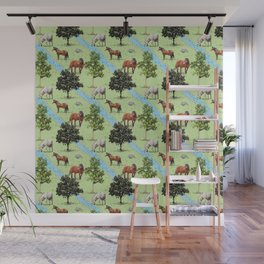 horses in the forest Wall Mural