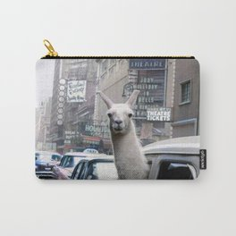 Llama Riding In Taxi In Color Carry-All Pouch