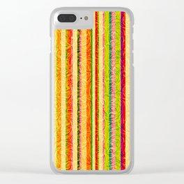 Colorful Stripes and Curls Clear iPhone Case