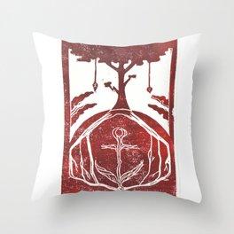 Grounding (White) Throw Pillow