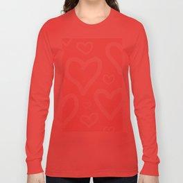 Millennial Pink Pastel Hearts Long Sleeve T-shirt