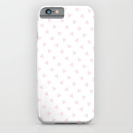 Pink Seamless Triangles Pattern iPhone Case
