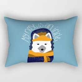 Arctic Fox by Darah King Rectangular Pillow