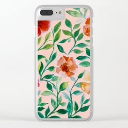 whimsical pattern Clear iPhone Case
