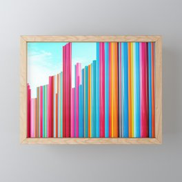 Colorful Rainbow Pipes Framed Mini Art Print