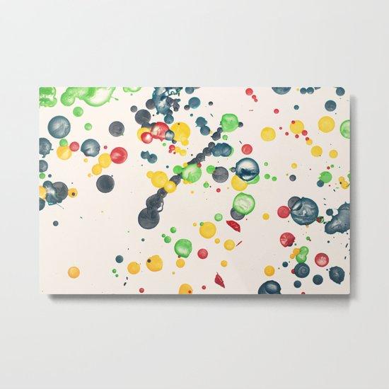 Crayon Love: Splatter This Metal Print