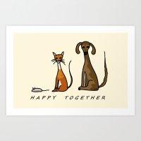 Happy Together - Domestic Art Print