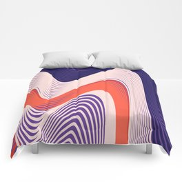 Pink Red Blue lines Comforters