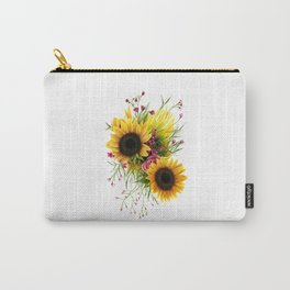 Floral 3 Carry-All Pouch