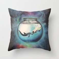Two Lost Souls Throw Pillow