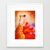 cello Framed Art Prints featuring Cello by Susana Zarate