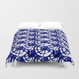 Shibori Curly Maze Duvet Cover