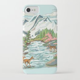 Paint by Number Mountain Medow iPhone Case