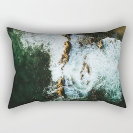 OCEAN - SEA - WATER - ROCKS - PHOTOGRAPHY Rectangular Pillow