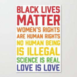 black lives matter-women is rights are human rights Canvas Print