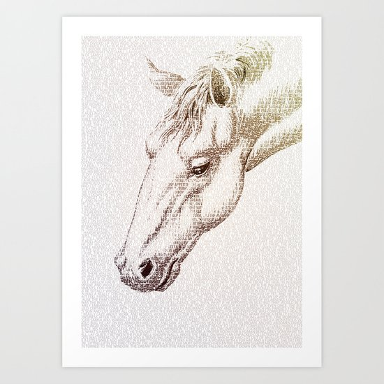 The Intellectual Horse Art Print