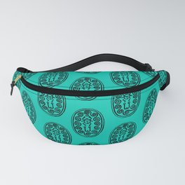 Ancient Egyptian Amulet Pattern Turquoise Blue Fanny Pack