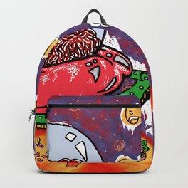 Get in Loser. Alien Santa in Christmas Sleigh Backpack