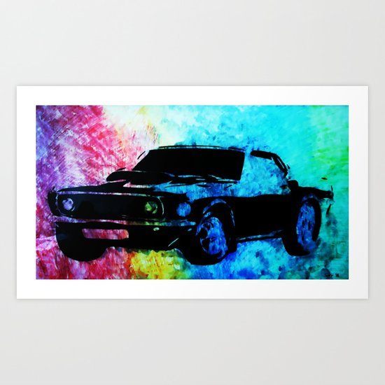 Mustang Muscle Car Art Print By Seijiart Society6