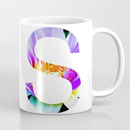 Monogram Lotus Flower Art Letter Design Coffee Mug