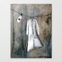 nurse Canvas Prints featuring nurse by woman