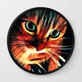 Cheshire Stripes Cat Wall Clock