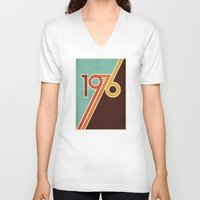 portal V-neck T-shirts featuring PORTAL by Untitled