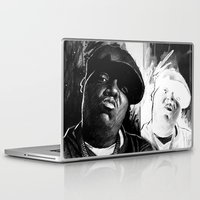 biggie smalls Laptop & iPad Skins featuring BIGGIE by ChrisGreavesCreative