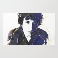 dylan Area & Throw Rugs featuring bob dylan by manish mansinh