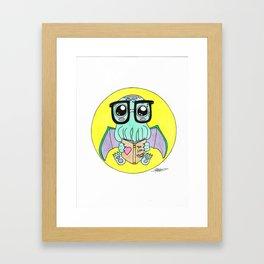 Story time Cute-thulu Framed Art Print