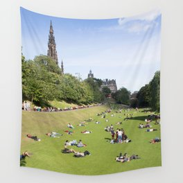 Princes Street Gardens on a sunny day 1 Wall Tapestry