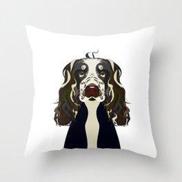 Illustration of Cocker Spaniel Dog. Throw Pillow