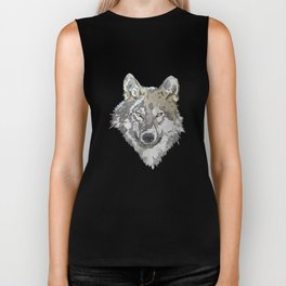 Wolf Head Illustration Biker Tank