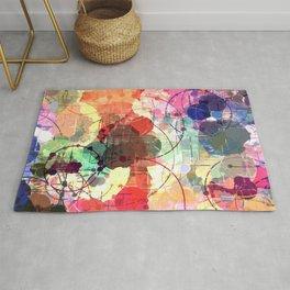 Colorful Multi Geometric Pattern Rug