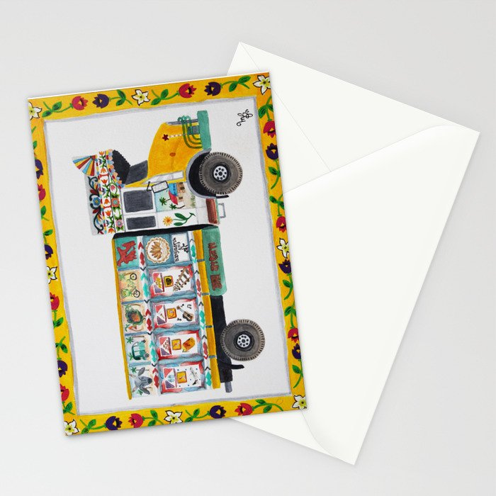 Bangla Truck  Stationery Cards