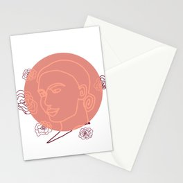 Happy Girl Stationery Cards