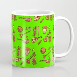 Indian Instruments Pattern Traditional Music Coffee Mug