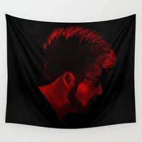 bastille Wall Tapestries featuring red + black by darknightdrive