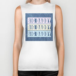 """BIG DADDY DENIM TRICOLOR"" BY ROBERT DALLAS Biker Tank"