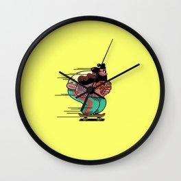 Skate Cat Wall Clock